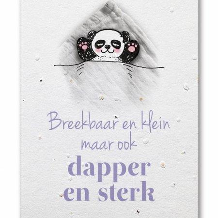 Bonte Raaf Groeikaart Panda Dapper