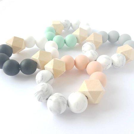 Chewies & more Hexa Chewie mini Marble / Lichtgrijs