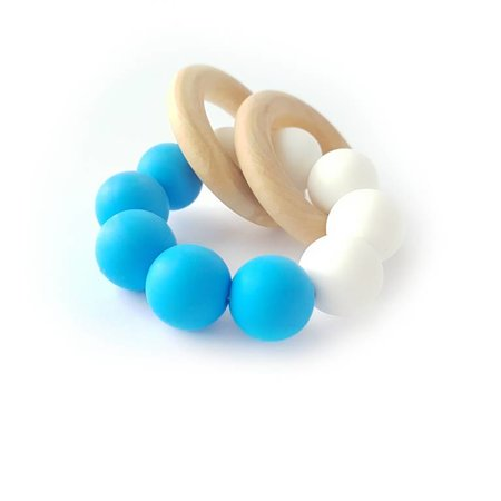 Chewies & more Chewie Basic Rattle Wit / Felblauw