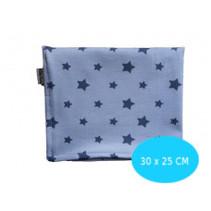 Blauw met sterren 30x25