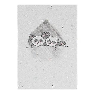 Groeikaart Panda Tweeling