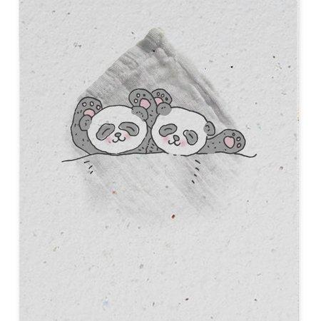 Bonte Raaf Groeikaart Panda Tweeling