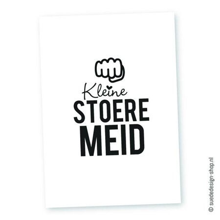 SuedeDesign Kaartje Kleine Stoere Meid