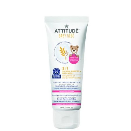 Attitude - Little Ones - Baby Attitude 2 in 1 Natural Shampoo and Body Wash