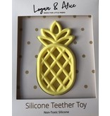 Logan & Alice Ananas Teether Licht Gele Bijtfiguur