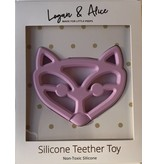Logan & Alice Vos Teether Roze Bijtfiguur