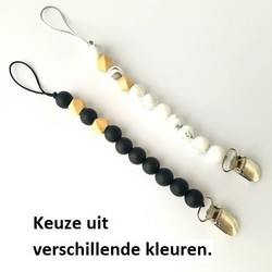 Beads and Wood Fopspeenclip *Uit Assortiment*