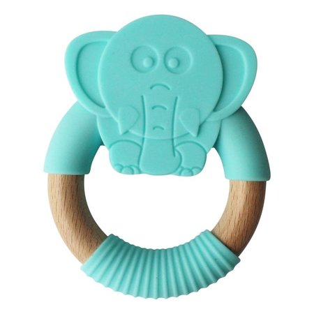 Chewies & more Olifant Lichtblauw Teether