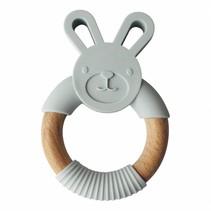 Bunny Lichtgrijs Teether Konijn