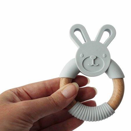 Chewies & more Bunny Lichtgrijs Teether Konijn