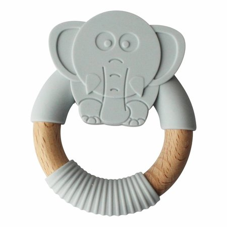Chewies & more Olifant Lichtgrijs Teether