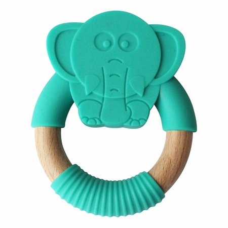 Chewies & more Olifant Zeegroen Teether