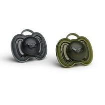 HeroPaci Fopspeen 0M+ Zwart/Groen
