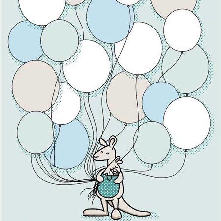 Kleine Kanga Nicu Poster Ballon Kleine Kanga