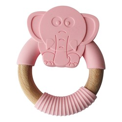 Olifant Blush Teether (Let op! Foto is roze)