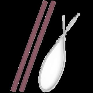 Siliconen Rietje Donkerroze Flexi Straw