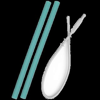 Siliconen Rietje Groen Flexi Straw