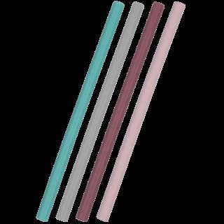 Siliconen Rietje Mix Roze Flexi Straw