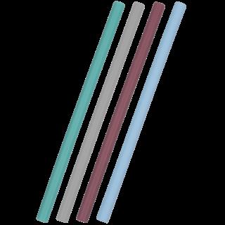 Siliconen Rietje Mix Blauw Flexi Straw