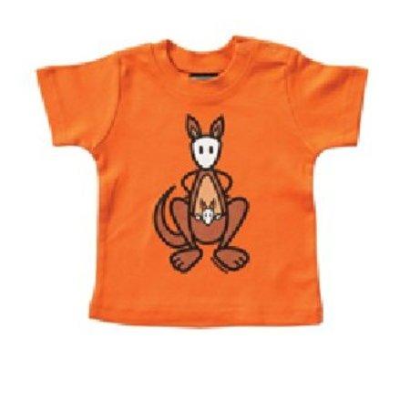 Mick & Malu Oranje babyShirt Skippy van Mick&Malu