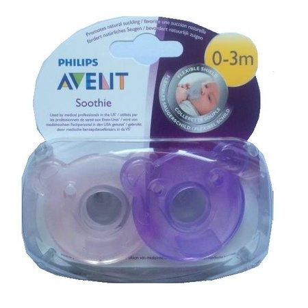Philips Avent Soothie 2 pck meisje 0-3 maand