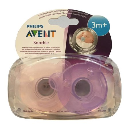 Philips Avent Soothie 2 pck meisje 3M+