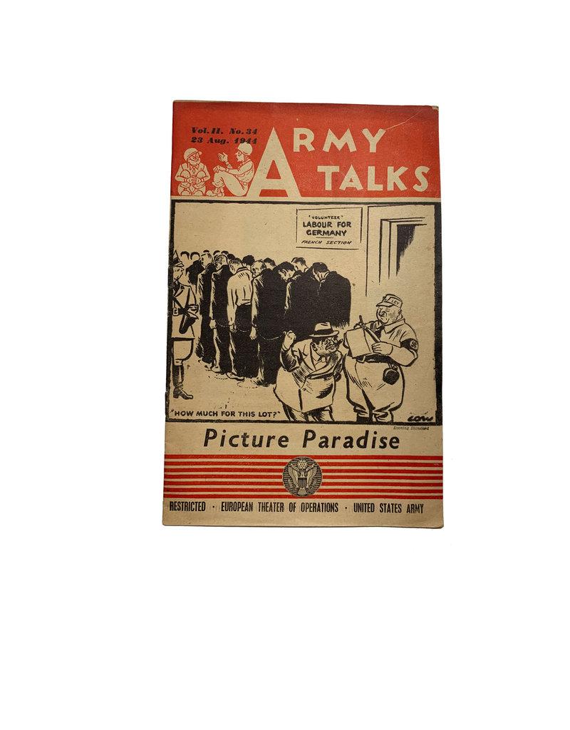 Amerikaans WO2 army talks boekje