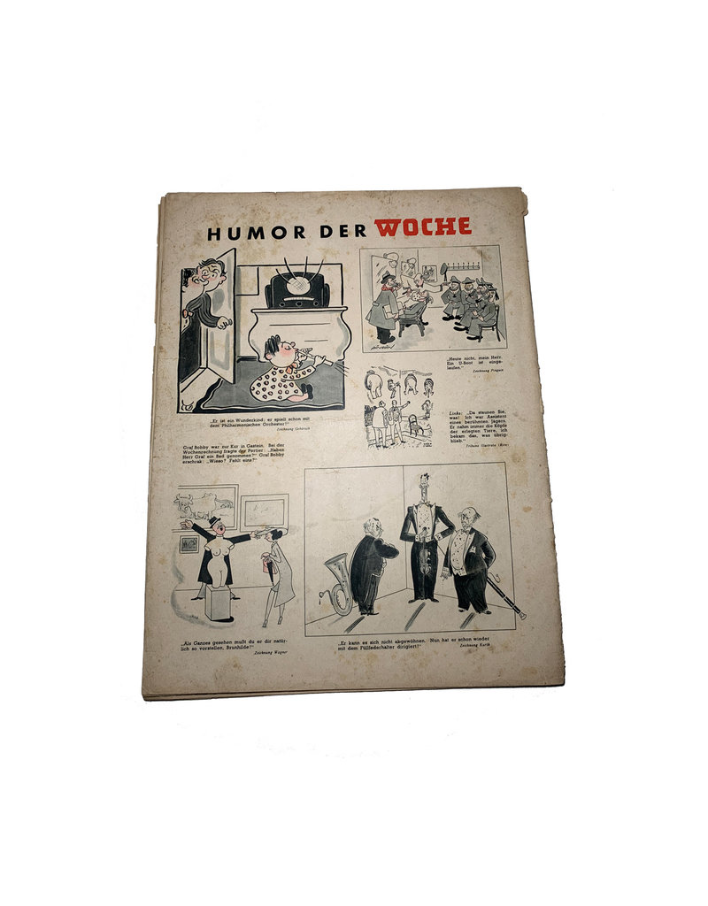 Duits WO2 Die Woche tijdschrift SS totenkopf