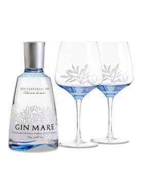 Gin-Mare Single Bottle Double ballon giftpack