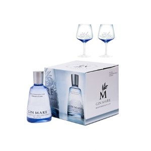 Gin-Mare Gin mare Single Bottle Double ballon giftpack 70CL