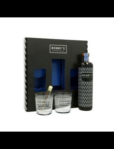 Bobbys Gin + 2 glazen Giftpack 70CL