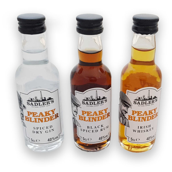 Peaky Blinders mini bottles- 3x 5cl