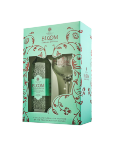 Bloom Bloom Premium London Dry Gin 70CL Glass pack