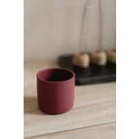 Mini cup beker - donkerroze