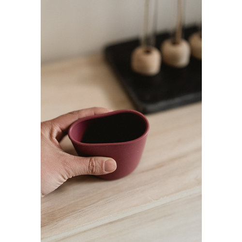 MinikOiOi MinikOiOi mini cup beker - donkerroze
