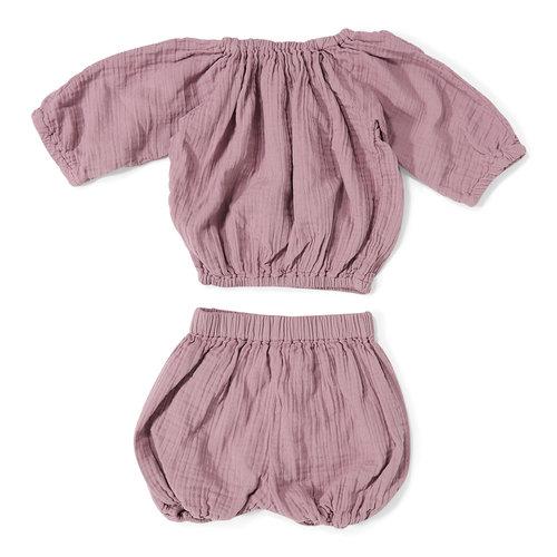 Daily Brat Comfy suit zomersetje Lila top & broek