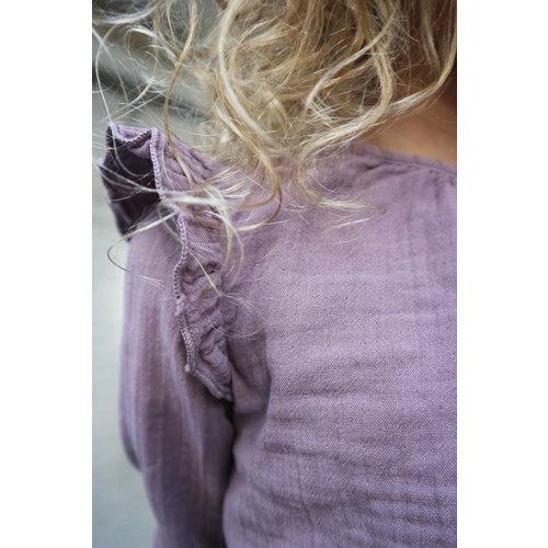 Daily Brat Luna Ruffle top dusty lilac met lange mouw