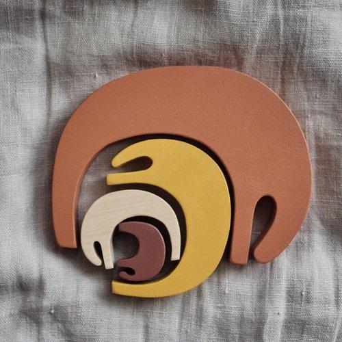 Pinch Toys Houten olifanten puzzel 'Earth'