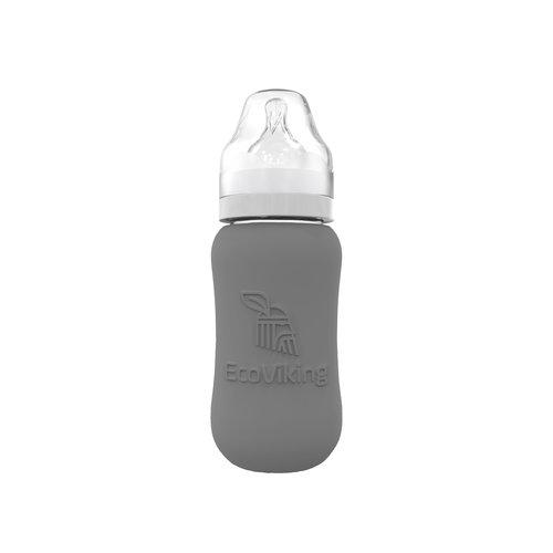 Eco Viking Glazen babyfles met siliconen hoes   240 ml