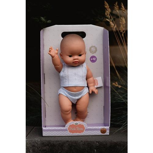Paola Reina Babypop Jongen met ondergoed - Aziatisch