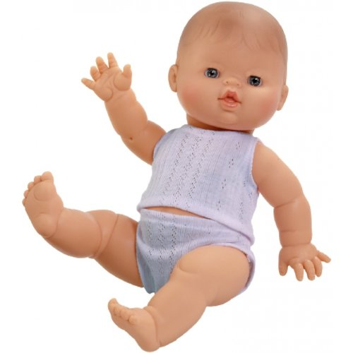 Paola Reina Babypop Jongen met ondergoed - Blank