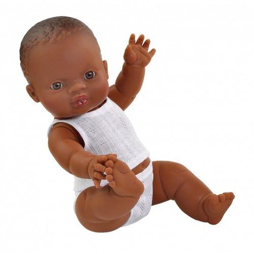 Paola Reina Babypop Jongen met ondergoed - Donker