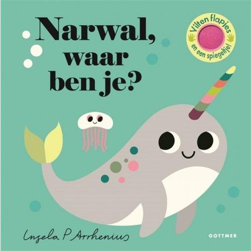 Boeken Narwal, waar ben je? Flapjesboek met flapjes van vilt