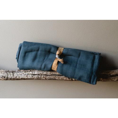 Fabelab Hydrofiel Swaddle 120x120 Blue Spruce
