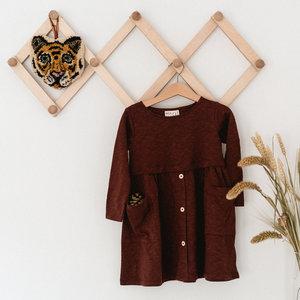 Mainio 'Button Dress' bruine jurk