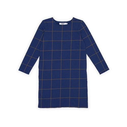 Say Please Say Please blauwe jurk met ruit
