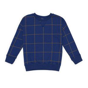 Say Please Sweater blauw met ruitje