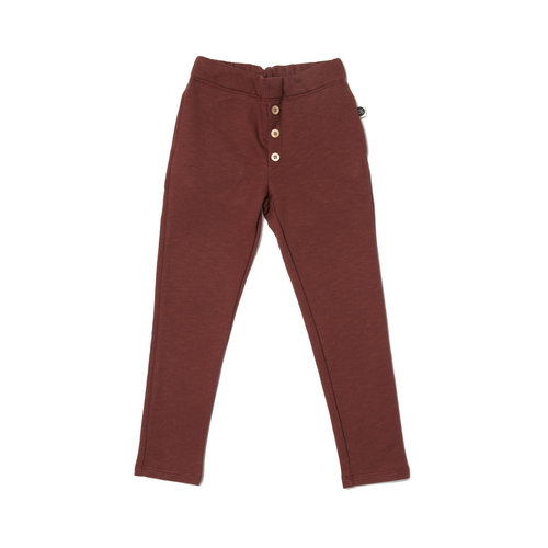 Mainio Mainio | Knoopjes broek / sweatpants 'Hot Chocolate'
