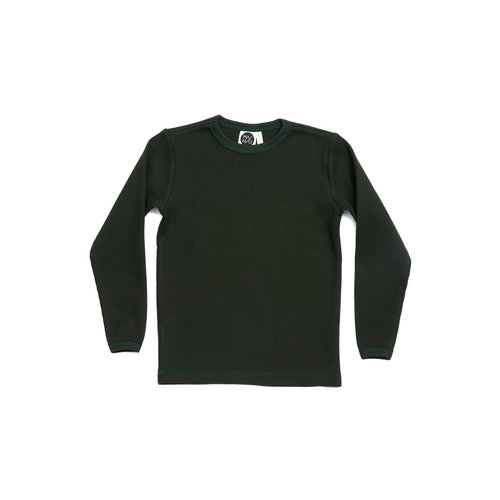 Mainio Mainio   Wafel shirt longsleeve 'Green'