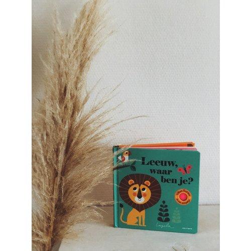 Boeken Leeuw, waar ben je? Flapjesboek met flapjes van vilt